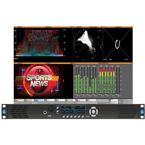 PHABRIX RX1000 HD/SD-SDI Waveform Monitoring/Testing Analyzer with One Analyzer & Generator Module (1 RU)