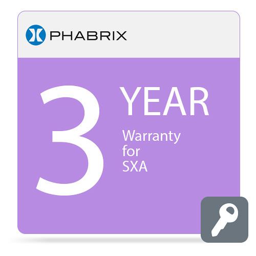 PHABRIX 3-Year Extended Warranty for PHSXA