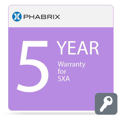PHABRIX 5-Year Extended Warranty for PHSXA
