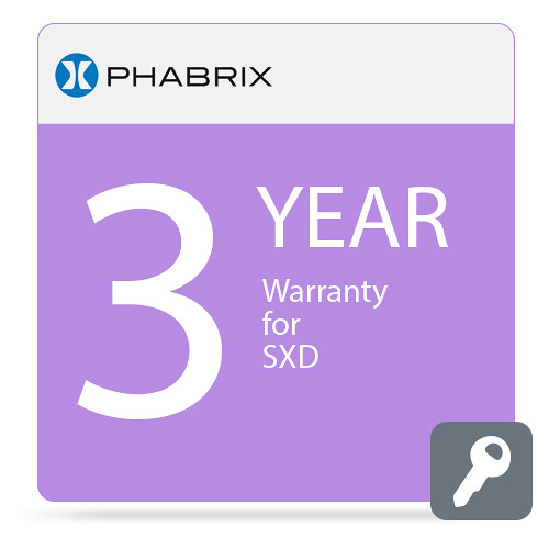 PHABRIX 3-Year Extended Warranty for PHSXD