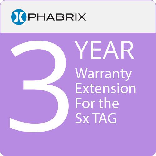 PHABRIX Sx TAG 3-Year Warranty Extension