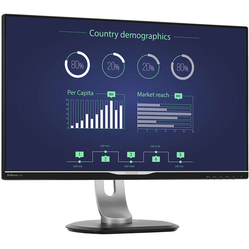 """Philips 25"""" USB-C Docking Monitor IPS Panel Quad HD 2560X1440 VGA with Built-In 2Wx2 Speakers"""