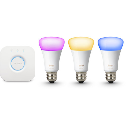 Philips Hue White and Color Ambiance A19 Starter Kit with Richer Colors (Gen 3)