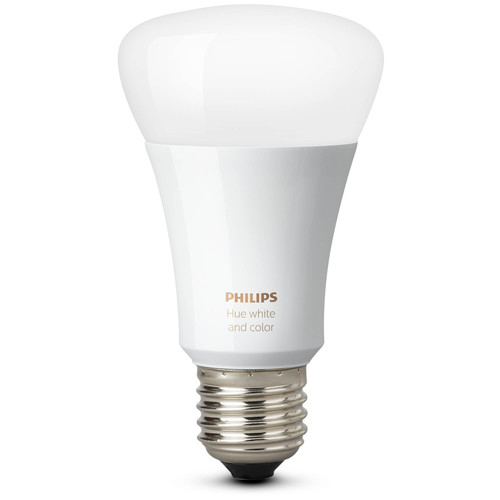 Philips Hue White and Color Ambiance A19 Single Bulb with Richer Colors (Gen 3)