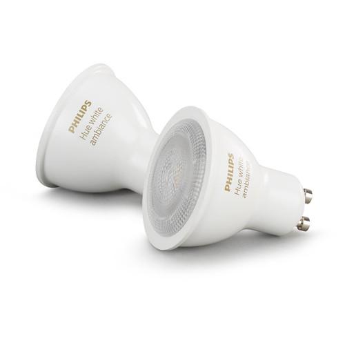 Philips Hue GU10 Bulb (White Ambiance, 2-Pack)