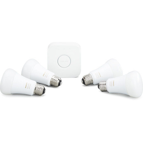 Philips Hue White and Color Ambiance A19 Starter Kit (4-Pack)