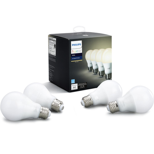 Philips Hue A19 LED Bulb (Warm White, 4-Pack)