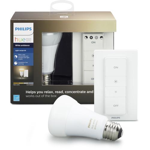Philips Hue A19 Light Recipe Kit (White Ambiance)