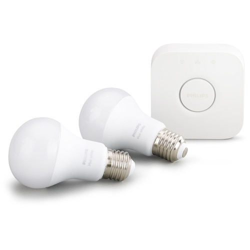 Philips Hue A19 Starter Kit (White, 2-Pack)