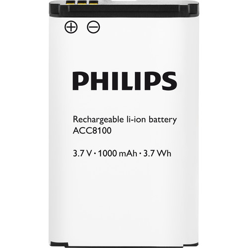 Philips ACC8100 Rechargeable Li-ion Battery for Philips DPM8000, DPM7000, and DPM6000 Series Dictation Recorders