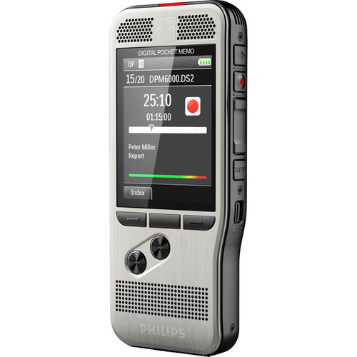 Philips DPM6000 PocketMemo Digital Voice Recorder with Push Button