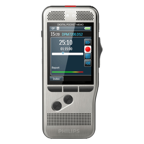 Philips DPM7000 PocketMemo Digital Voice Recorder with Slide Switch