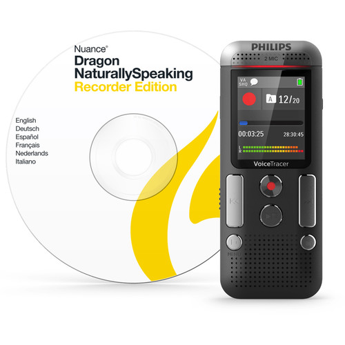 Philips DVT2710 VoiceTracer Digital Voice Recorder with Speech Recognition Software