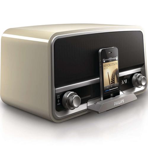 Philips Original Radio with 30-Pin iPod/iPhone Dock (Cream)