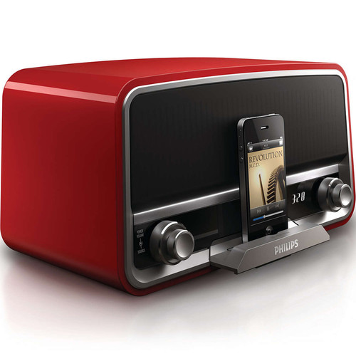 Philips Original Radio with 30-Pin iPod/iPhone Dock (Red)