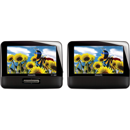 "Philips PD7012 Portable DVD Player with 7"" LCD Dual Screens"