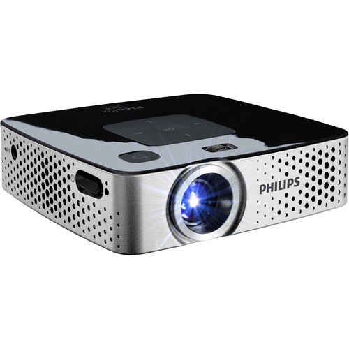 Philips PicoPix PPX3417 170-Lumen FWVGA DLP Pico Projector with Wi-Fi Adapter