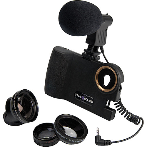 Smart Phocus 3 Lens Bundle with Shotgun Mic for iPhone 4