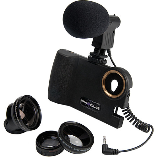 Smart Phocus 3 Lens Bundle + Shotgun Mic for iPhone 5