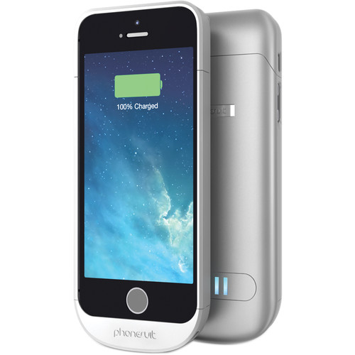 PhoneSuit Elite Battery Case for iPhone 5/5s/SE (Ice Silver)