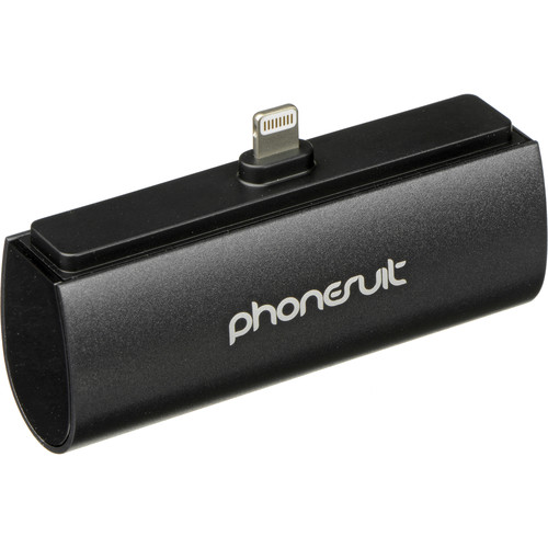 PhoneSuit Flex XT Pocket Charger for iOS Lightning Devices (Black Metallic)