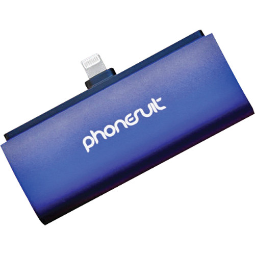 PhoneSuit Flex XT Pocket Charger for iOS Lightning Devices (Blue Metallic)