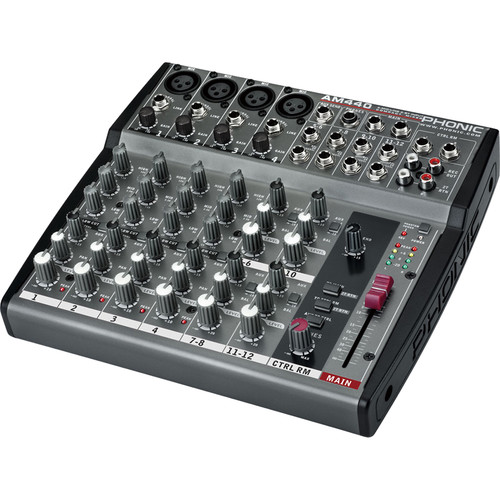 Phonic AM 440 4-Mic/Line 4-Stereo Input Compact Mixer