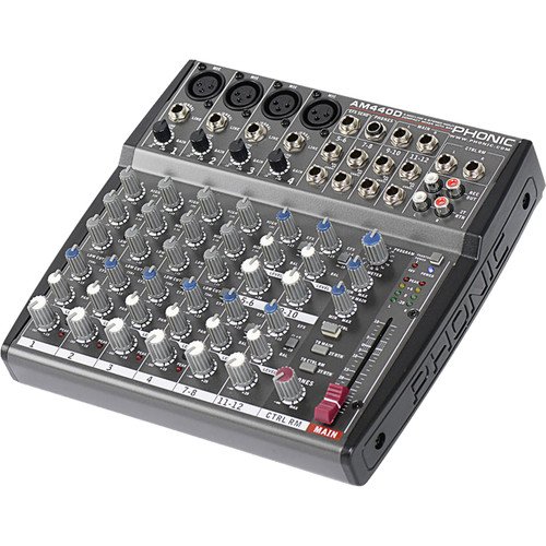 Phonic AM 440D 4-Mic/Line 4-Stereo Input Compact Mixer with DFX