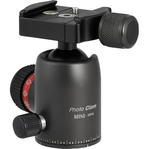 Photo Clam Pro Mini 30 NS Ball Head with Screw-Knob Clamp (Black)