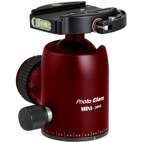 Photo Clam Pro Mini 30 NS Ball Head with Lever-Lock Quick Release (Red)