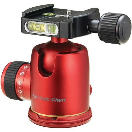 Photo Clam PRO 34NS Ball Head (Red)