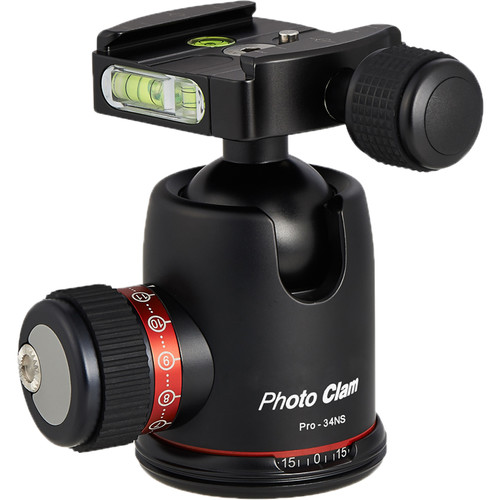 Photo Clam Pro 34NS with Screw Knob Clamp (Black)