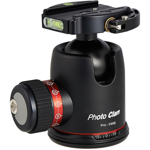 Photo Clam Pro 34NS with Lever-Lock Quick Release (Black)
