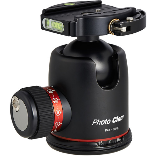 Photo Clam Pro 38NS Ball Head with Lever-Lock Quick Release (Black)