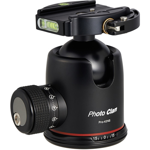 Photo Clam Pro 42NS Ball Head with Lever-Lock Quick Release (Black)