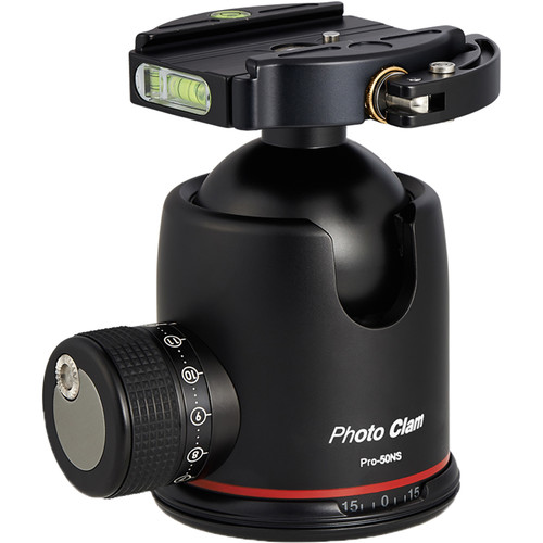 Photo Clam Pro 50NS Ball Head with Lever-Lock Quick Release (Black)