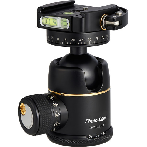 Photo Clam Pro Gold 2 Premium Ball Head with Lever-Lock Quick Release (Black)