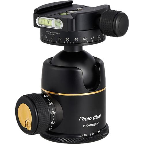 Photo Clam Pro Gold 4 Premium Ball Head with Screw-Knob Clamp (Black)