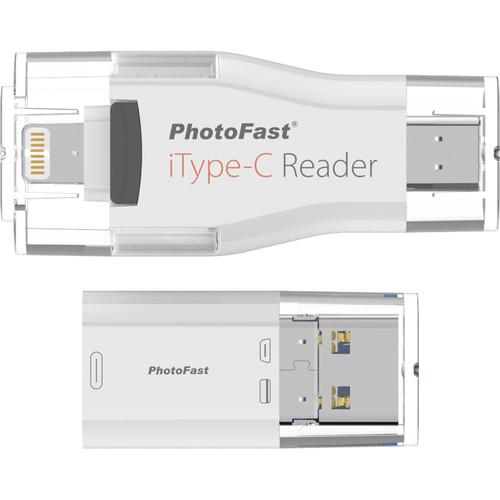 PhotoFast iType-C Reader with Lightning & USB 3.0 Type-C
