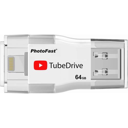 PhotoFast TubeDrive Portable YouTube Storage & Playback USB Flash Drive for iOS (64GB)