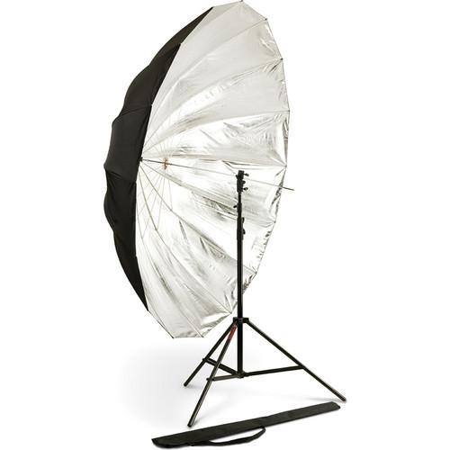 """Photoflex 72"""" Silver Reflective Parabolic Umbrella"""
