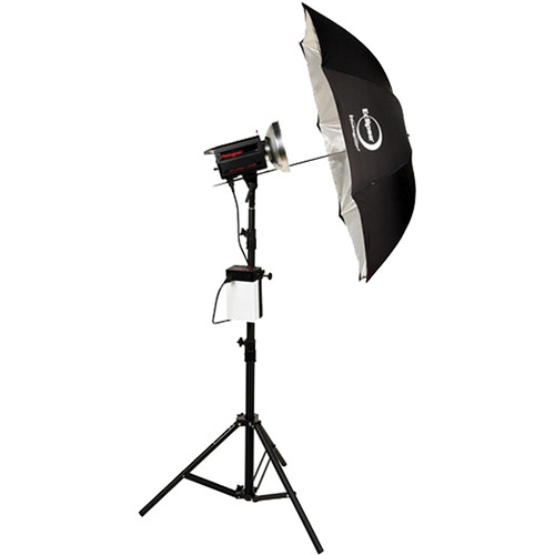 Photogenic ION Inverter with PL1250DRC 500W/s Flash Head Umbrella Kit