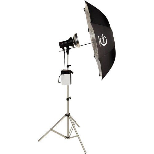 Photogenic ION Inverter with StudioMax 320W/s Flash Head and Umbrella Kit