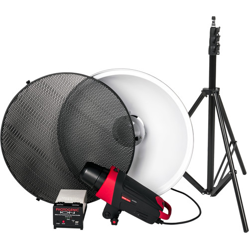 Photogenic Matrix MCD400R Monolight with Ion Inverter, Beauty Dish, Grid, and Stand