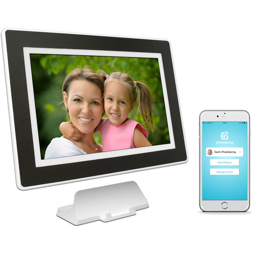 """PhotoSpring 10.1"""" Digital Frame with 16GB Built-In Memory"""