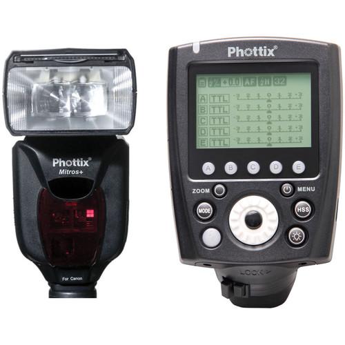 Phottix Mitros+ TTL Transceiver Flash with Odin II TTL Flash Trigger Kit for Canon Cameras