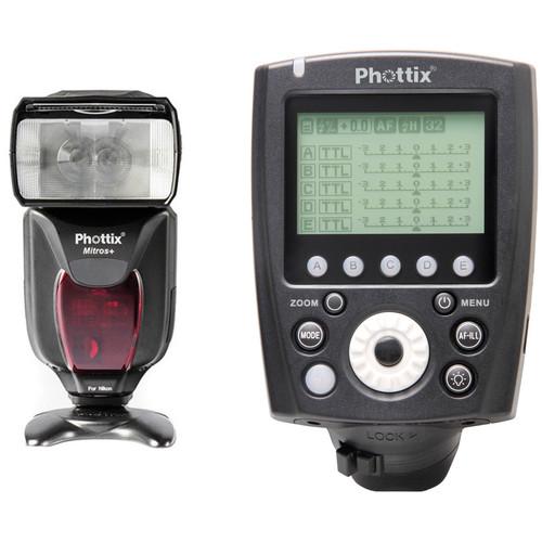 Phottix Mitros+ TTL Transceiver Flash with Odin II TTL Flash Trigger Kit for Nikon Cameras