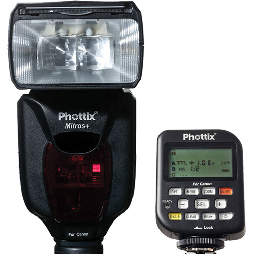 Phottix Mitros+ TTL Flash and Odin Flash Trigger Combo for Canon Cameras