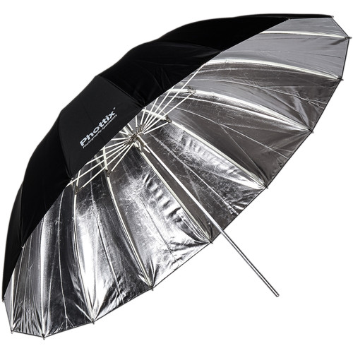 "Phottix 40"" Para-Pro Reflective Umbrella (Silver/Black)"
