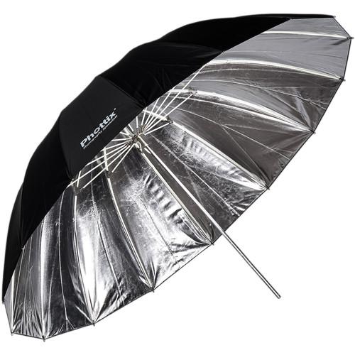 "Phottix 72"" Para-Pro Reflective Umbrella (Silver/Black)"